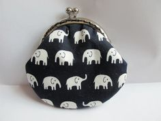 Small Handmade Coin Purse  White Elephant in the by Apursemarket, $20.00