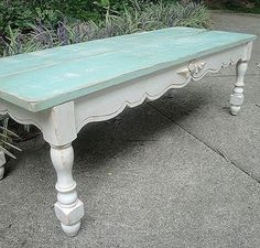 Such a pretty table for a covered porch or sunroom