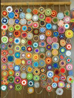 Collaborative Community Art Project - Each family gives 3 businesses in their community a circle attached to a one page info sheet on that introduces why family selected the business, introduces disability & CO. Invites to gala and asks that they decorate the circle for a collaborative art project for gala auction. Hints other donations welcome. Label on back with business info and why they participated!