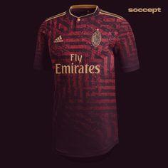 Sport Shirt Design, Sports Jersey Design, Football Kits, Football Jerseys, Soccer Shirts, Sports Shirts, Milan Football, Jersey Outfit, Club Shirts