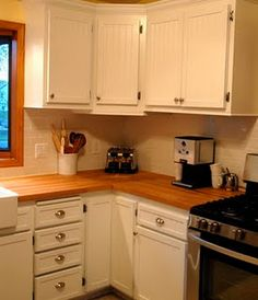 Great DIY refacing of existing cabinets