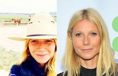 Gwyneth Paltrow: with and without make-up