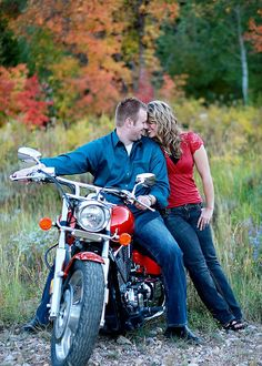 """Kerry """"Mercury"""" Dawson's life has never been easy, but things start to look up when he gets a job at Dream Machines—until he crashes a motorcycle he wasn't supposed to be riding, and wakes up in Lucy's emergency room! Motorcycle Engagement Photos, Motorcycle Photo Shoot, Motorcycle Couple Pictures, Motorcycle Wedding, Engagement Pictures, Engagement Ideas, Biker Love, Motorcycle Photography, Picture Poses"""