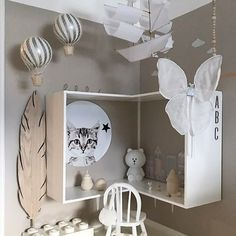 What a cute desk space for a kids room. Girl Room, Girls Bedroom, Diy Kids Furniture, Kids Room Design, Baby Room Decor, Home Interior, Interior Design, Room Inspiration, Decoration
