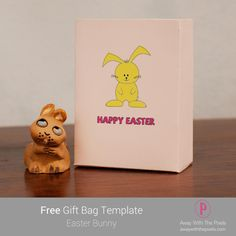 Give Easter Gifts in This Super Cute Easter Bunny Bag: This cute bunny design bag will be perfect for Easter Bunny Bags, Cute Easter Bunny, Digital Stamps, Greeting Cards Handmade, Gift Bags, Free Gifts, Super Cute, Paper Crafts, Rubber Stamping