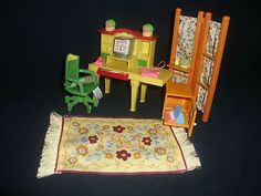 Fisher Price Loving Family Dollhouse Office Furniture