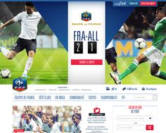 DISCOVER THE NEW FFF WEBSITE TO GET ALL THE RESULTS & INFORMATIONS ON THE FRENCH SOCCER TEAM & FRENCH LEAGUE