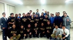 Lambda Chi Alpha celebrates after their fundraiser where they were able to donate money to the Northridge Fosters Children Resource Center. Photo courtesy of Luis Canton.