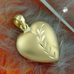 Anhänger, Herz mit Schliff, 9Kt GOLD accessorize24-430824