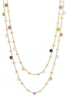 Marco Bicego 'Paradise' Semiprecious Stone Long Necklace available at #Nordstrom