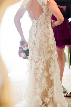 sweet lace wedding gown with nude underlay cameroningalls.com