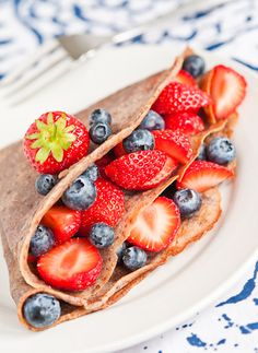 3 Lovely Breakfast Pancake Recipes...buckwheat and berry crepes...