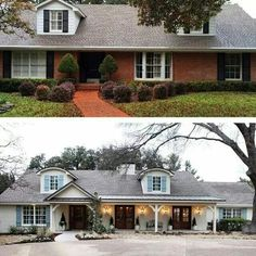 I love the porch addition with metal roof.