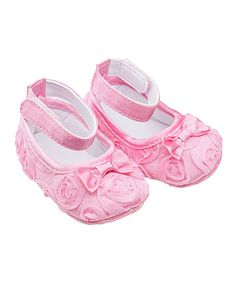 Loving this Pink Rosette Ballerina Slipper Shoe on #zulily! #zulilyfinds