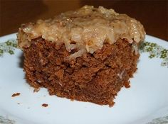 Gluten-free German Chocolate Cake, made with Pamela's Artisan Flour (which has sorghum!)