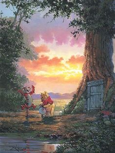 Rodel Gonzalez Good Morning Pooh Giclee on Canvas # #Animation  Good Morning Pooh Giclee on Canvas