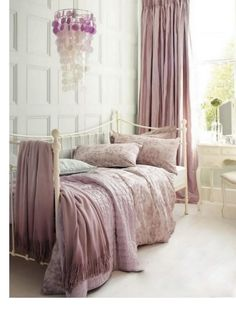 daybed in faded rose and gray