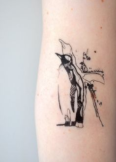 "Carola Deutsch - ""Mate For Life"" Penguin Temporary Tattoo"