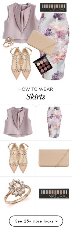 """The floral pencil skirt"" by jaynebrowncreates on Polyvore featuring Forever 21, Chicwish, New Look, Valentino, Hobbs, MAC Cosmetics and Bloomingdale's"