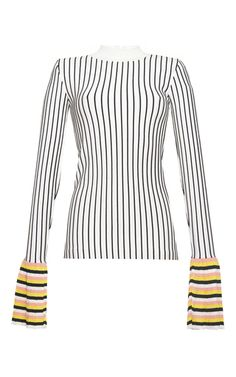 Pinstripe Flared Cuff Top by EMILIO PUCCI for Preorder on Moda Operandi