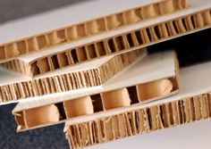 Re-Board (DesignForce), BioBoard (PlyVeneer), Beelite, X-board (Xanita), and Falconboard (Hexacomb Pregis) are recyclable substitutes for PVC foam board as well as for heavier MDF and HDF materials for signage, display, construction, even furniture.