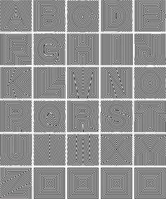 Op art alphabet by Luna lucy