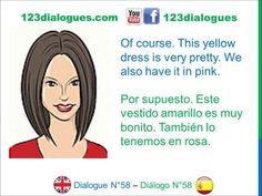 Dialogue 58 Diálogo 58 English Spanish Inglés Español - Shopping for clothes - Comprando ropa - Lingoacademy.TV