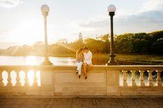 beautiful boston charles river engagement photos during sunset