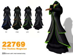 The Technomagican is an Fantasy Item from us available at the Fantasy Faire 2013. This unique styled mesh comes in four colors for you to choose from for just 220L$.  Please use the provided Demos at the Venue for fitting purposes first.