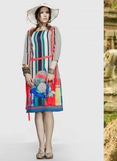 Beautiful Mannat Dimond Grey Designer Kurti