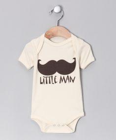 Oatmeal 'Little Man' Organic Bodysuit - Infant  http://www.zulily.com/invite/ashleysbookshelf541