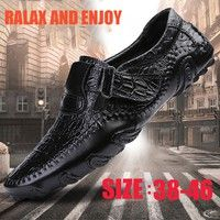 Wish    Men's Comfortable Driving Loafer Shoes Fashion Leather Bussiness Shoes