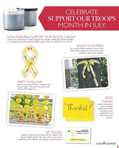 Support our Troops candle