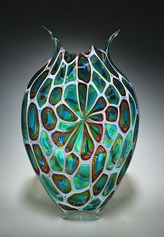 Windowed+Foglio by David+Patchen: Art+Glass+Vessel available at www.artfulhome.com