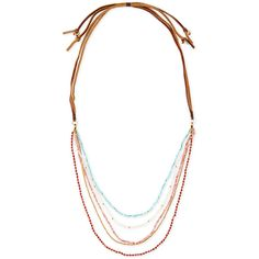 Nakamol Multi-Strand Beaded Necklace ($48) ❤ liked on Polyvore