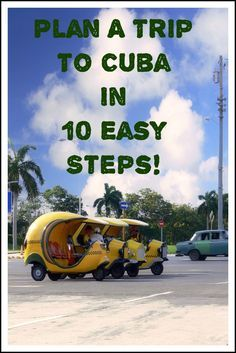 Plan a trip to Cuba in 10 easy steps! Includes helpful links for Americans traveling to Cuba!