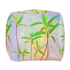 15% off with code ZVALENTINE17 - Tropical Pastel Outdoor Pouf Ottoman from ZoeSPEAK