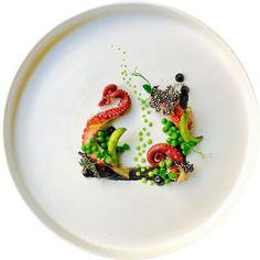 Octopus, ink mayo, peas, burn onion, crispy soya Feeling creative..... #truecooks#theartofplating#thehague#thekitchenassassin#thebestchef#artonaplate#photooftheday#chef#dishoftheday#chefsplateform#chefsofinstagram#foodie#foodstarz_official#food#fdprn#happy#foodartchefs#gastroart#gastroartistry#worldofnoblesse#gourmetzfood#sousfresh#grateplates#chefstalk#chefsroll#foodpics#foodpictures#cookniche#thebestchefsoftheworld#culinarieinspiratie