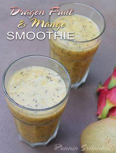 dragonfruit and mango smoothie @RunninSriLankan