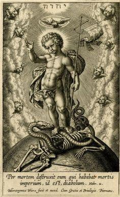 Religious print by Hieronymus Wierix (1553 - 1619), Flemish school