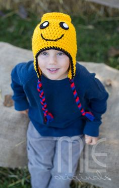 Lego Inspired Hat, Lego Crocheted Hat, Lego Man, Knit Lego Man Hat, Knit Lego, Everything is Awesome, Yellow Lego Hat, Boys Crocheted Hat by MLEoriginalsCanada on Etsy