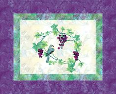 grape wreath Designed by Jackie Designed using Quilt Fusion#QuiltFusion
