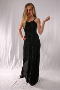 Gothic Long Laced Velvet Skirt. Gothic Velvet Full Length Skirt~2 Colours available. Bares~85-1379~