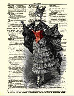 Vintage Vampire Dictionary Art Print