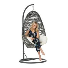 Image for Egg Chair with Cushion from Kmart Garden Furniture, Outdoor Furniture, Egg Chair, Hanging Chair, Outdoor Gardens, Outdoor Living, Home And Garden, Cushions, Chairs