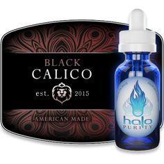 Halo Black Calico E-Liquid - Cavendish Tobacco