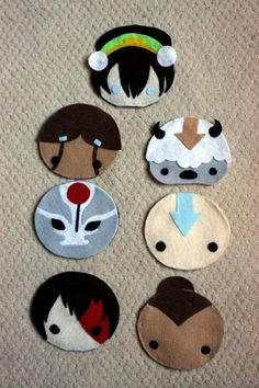 Felt Pin-on Pouches Avatar: The Last Air Bender ♥ I'm gonna try and make these!