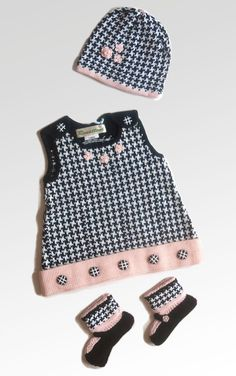 Knitted girl jumper set Audrey Hepburn style. Dress by Renattoni, $65.00