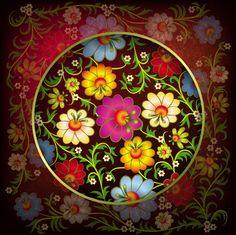 floral ornaments backgrounds