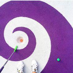 sneak in a little game of mini golf !
